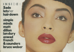 Sade, April, 1984, The Face, Magazine, Super Bien Total